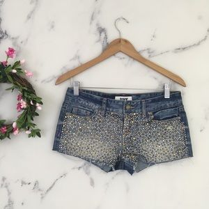 PINK Victoria Secret Rhinestone Denim Mini Shorts